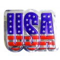USA  Metallic Wall Plaque - 3 pack