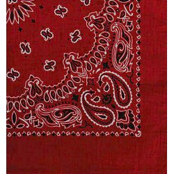 Large Cotton Bandanna (Red)