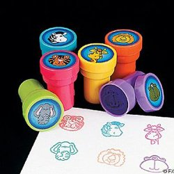 24 Zoo Animals Stampers