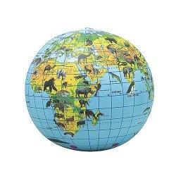 Earth Globe Beach Balls - 6 Cnt.