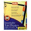 Tab Dividers - 5 Colored Binder Tabs