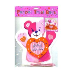 Cello Treat Bags - Teddy Bear Shaped Bags - 36 Cnt