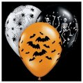 "12 Assorted 11"" Latex Balloons - Halloween Balloons - Helium Quality"