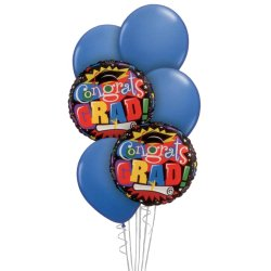 Graduation Balloon Bouquet - Blue