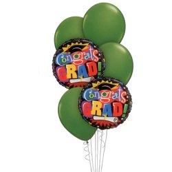 Graduation Balloon Bouquet - Green