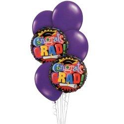 Graduation Balloon Bouquet - Purple