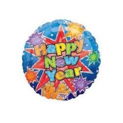 """Happy New Years Balloon - 18"""" Round Mylar Balloon"""