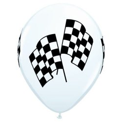 Latex Balloons - Racing Flags - Package of 12