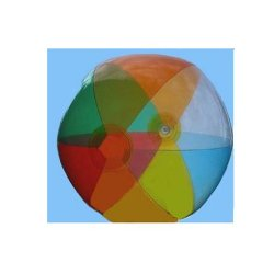 "Multicolor Transparent Inflatable 16"" Beach Balls - 12 Pack"