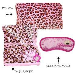 Princess Leopard 3pc. Bedding Sleep Set