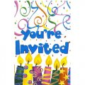 """You're Invited"" Birthday Party Invitations w/ Envelopes - 8cnt."