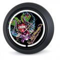 "Ed Hardy Clock - ""Love Kills Slowly"" Snakes Neon Clock"