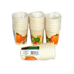 "Disposable ""Harvest Moon"" Paper Drinking Cups - 96 Cnt."