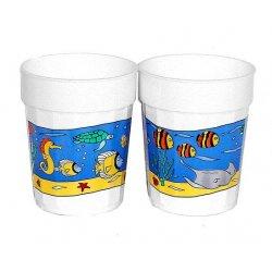 Ocean Scene Life Plastic Drinking Cups 16oz - 12 Cnt.