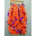 Silver and Purple Bats - 15ft. Orange Halloween Garland
