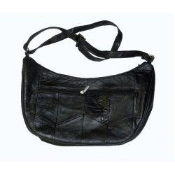 Black Genuine Leather Shoulder Purse