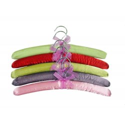 Padded Hangers - 5 Pack of Asst. Color Garment Hangars