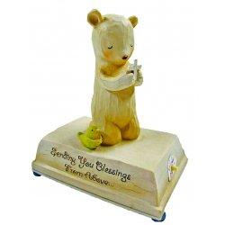 HeartString Teddies - Christening/Baptism Musical Figurine