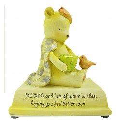 HeartString Teddies - Get Well Musical Figurine