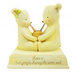 HeartString Teddies - In Love Musical Figurine