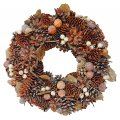 "Decorative Wreath - 12.5"" Holiday Wreath Brown"