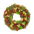 "Decorative Wreath - 12.5"" Holiday Wreath Green"
