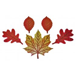 Glitter Leaf Shaped Cutouts - 5 Pack