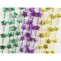"Star Bead Necklaces, Mardi Gras - 33"" ea. - 1 Dozen"