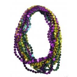 """Coin Bead Necklaces, Mardi Gras - 33"""" ea. - 1 Dozen"""