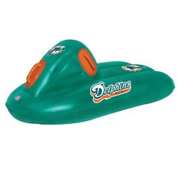 Inflatable Sled - Miami Dolphins NFL 2 in 1 Snow and Water Super Sled