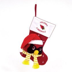 "Arizona Cardinals Baby Mascot Christmas Stocking - 22"" NFL Stocking"