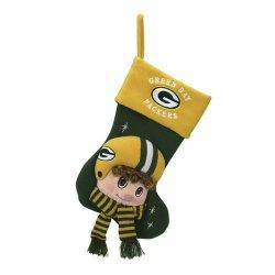 "Green Bay Packers Baby Mascot Stocking - 22"" NFL Stocking"