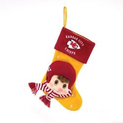 "Kansas City Chiefs Baby Mascot Stocking - 22"" NFL Stocking"