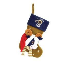 "St. Louis Rams Baby Mascot Stocking - 22"" NFL Stocking"