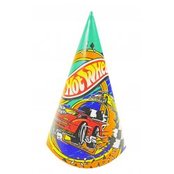 Hot Wheels Birthday Party Hats - 8 cnt.