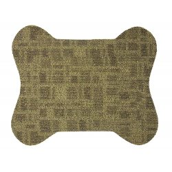 """2 Pet Bowl Mats - Two Pack of 23"""" x 19"""" Dog Shaped Area Rug"""