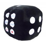 Plush FM Scan Dice Shaped Radio - BLACK