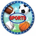 "Party Plates ""All-Sports"" (7"") - 8 cnt"