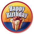 "Party Plates ""Birthday Presents"" (7"") - 8 cnt"