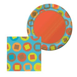 Circles and Squares Disposable Tableware