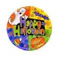 "Halloween ""polka dot "" Paper Plates (8 3/4"") - 8 cnt"