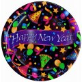 Disposable Plates - 24pk. of New Years Eve Disposable Party Plates