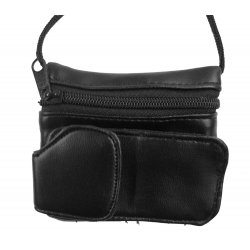 Leather Coin Purse w/ Cell Phone Holder - 1121