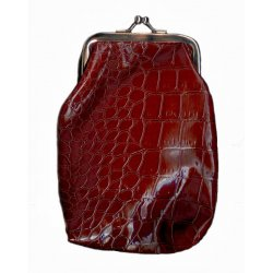 Snake Skin Cigarette Purse - Brown