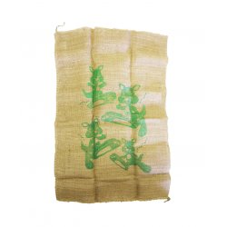 Potatoes Sack Burlap Sack - Green Kangaroo