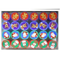 Christmas Pencil Top Stampers (24/pk)