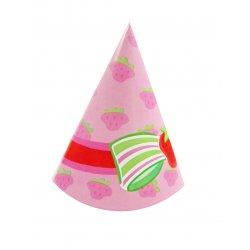 Strawberry Shortcake Birthday Party Hats - 8 pk.