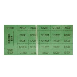 Auction Tickets - 500 Sheets - GREEN