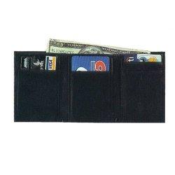 Black Tri-Folding Leather Wallet