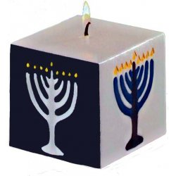Hanukkah Wax Candle